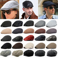 Men's Gatsby Newsboy Cap Cabbie Peaky Blinders Driver Baker Golf Driving Ivy Hat