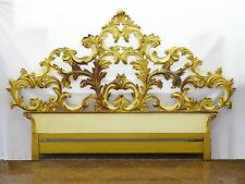 RARE VINTAGE 1960's JOHN WIDDICOMB VENETIAN GILT CARVED WOOD KING SIZE HEADBOARD