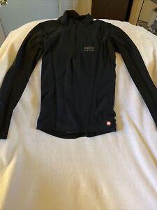 Gore Bike Wear Womens Cycling Jersey Wind Stopper Black, XS