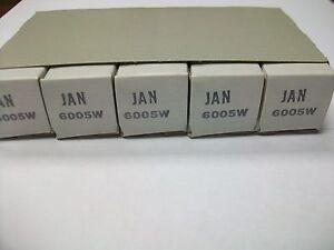 SLEEVE  OF  5  GE  JAN 6005/6AQ5W  TUBE
