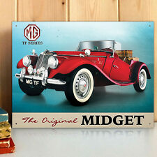 MGTF Midget Red Metal Wall Sign 30x41cm Licensed Motors Vintage Car Gift 50126