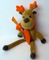 Reese's Chocolate Candy Reindeer Christmas Plush Toy Hershey Company