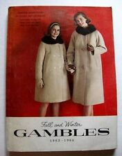 1963-64 Gambles Department Store Catalog Great Mid Century Fashions and Style!