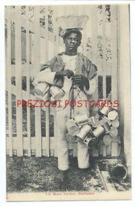 BARBADOS - Native TIN WARE VENDOR circa 1907 Postcard
