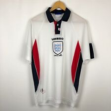 Vintage England 1997 1998 1999 Home football shirt soccer jersey Umbro white