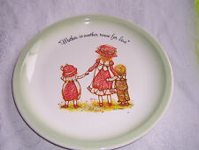 HOLLY HOBBIE COLLECTORS EDITION VINTAGE PLATE 1970s Mother is another name....
