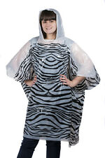 PONCHO Adult Zebra Print Waterproof Festival Events (Box of 50) 75010151-50
