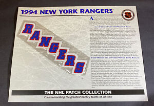 Willabee & Ward NHL Official Patch 1994 New York Rangers