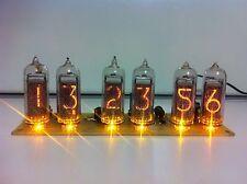 6 nixie tube clock in14 Yellow