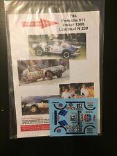 DECALS 1/43 PORSCHE 911 SC LIAUTAUD RALLYE PARIS DAKAR 1986 RALLY