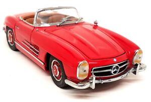 Franklin Mint 1/24 Scale 1960 Mercedes Benz 300SL Roadster Red Diecast Model Car