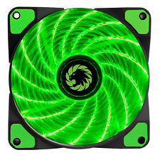 Game Max Storm Force 15 x Green LED 120mm Fan PC 12cm Case Fan High Performance