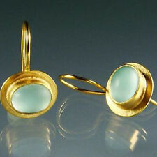 Fashion Moonstone 925 Silver Ear Hook Drop Dangle Earrings Women Party Jewelry
