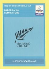 CRICKET  -  POSTCARD  -  1999  ICC  CRICKET  WORLD  CUP  BADGES  -  NEW  ZEALAND