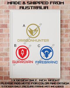 Dragonhunter Guardian Firebrand Guild wars 2 professions class sticker decal GW2