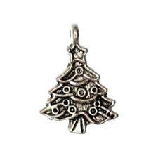 3 Breloques _ SAPIN DE NOEL arg. 24X18mm _ Perles charms création bijoux _ B106