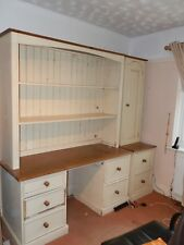 desk and shelving for home office-country style cream and pine-shabby chic