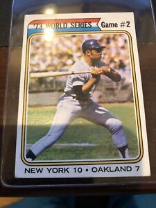 1974 TOPPS #473 WORLD SERIES GAME #2 WILLIE MAYS