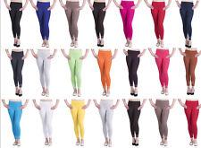 Womens Cotton Leggings Full Length Plus Sizes 8 10 12 14 16 18 20 22 26
