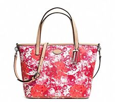 COACH Metro Floral Print Small Tote Pink Multicolor F32483 New With Tag