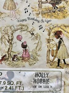 Vintage Childrens Gift Wrap Holly Hobbie Kate Greenway Birthday Shower Baby Kids