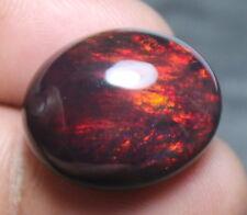 14.20 Ct Top Natural Loose Gemstone Black Ethiopian Welo Opal Oval Shape Cab D61
