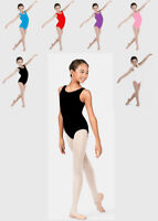 Kids Sleeveless Dance Gymnastics Modern Jazz Leotard Lycra 6 colours