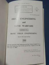 1960 FIELD ENGINEERING & Mine Warfare Part 2 RE and Aslt Pnrs WO Code 9663