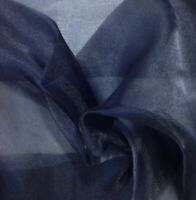 """Navy Sparkle Organza Bridal Fabric 60"""" Width Sold By the Yard"""