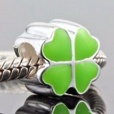 Four Leaf Clover Charm Bead 925 Sterling Silver