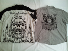 TWO HARLEY DAVIDSON FRONT BUTTONS JERSEY BOTH IN SIZE 3XL