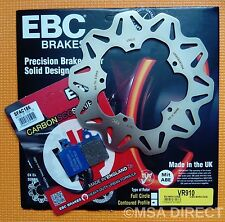 Vespa PX125 / PX150 / PX200 EBC FRONT Brake Disc and Carbon Brake Brake Pads