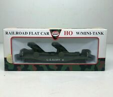 Model Power HO Scale U.S. Army Flat Car Train With 2 Two Howitzers 8452