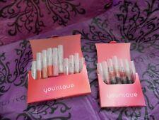 (2 pkgs) 17pc Lot Younique LIP GLOSS / STAIN Samples Amazing Lip Color Shades!