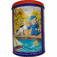 Vintage  Cracker Jack Tin Can 1992 Container Limited Ed. 3rd in Series bad lid.