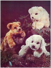 Lion Cub, Baby Polar Bear & Puppy Floppy Soft Toys Diagram Sewing Pattern S10040