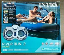 Intex River Run 2 Lounge 2-Person Double Inflatable Tube/Float | Built-in Cooler