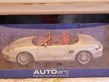 AUTOART PORSCHE BOXSTER S SILVER CABRIOLET 986 FACELIFT ART.77882 1:18 RARE