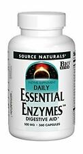 Source Naturals 77X3zp1 Daily Essential Enzymes 500 mg 360 caps Digestion Gas