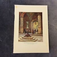 Vintage Book Print - Courtyard of the Palazzo Vecchio - Florence