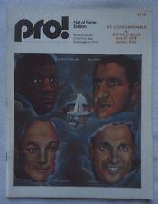 PRO! Program St Louis Cardinals vs Buffalo Bills Hall of Fame Enshrinees 1974
