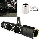 Motorcycle Three-outlet Exhaust Tail Pipe Muffler 38-51mm For Yamaha Suzuki