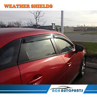 4PCS Deflector Guard Weathershield Weather Shields for Mazda CX3 CX-3 2015-2018