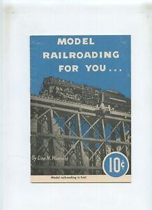 Vintage 1949 Model Railroading For You Linn Westcott Booklet Brochure