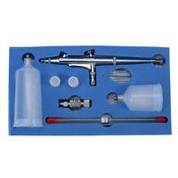 Dual Action Gravity Feed 0.2 0.3 0.5mm Airbrush Gun Kit Spray Nail Tattoo Tool