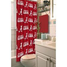 """Alabama Crimson Tide Shower Curtain 72"""" x 72"""" New"""