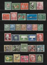 Gestempelte Briefmarken aus der BRD (1955-1959) als Sammlung