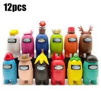 7/12 PCS/Set PVC Among Us Action Figures Collection Dolls Game Toys Kid Fun Gift