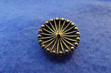 Black Glass Button with Gold Luster (507)