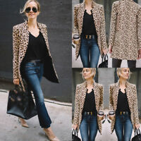 Fashion Women Mid-length Slim Casual Blazer Suit Lady Work Jacket Coat Outerwear